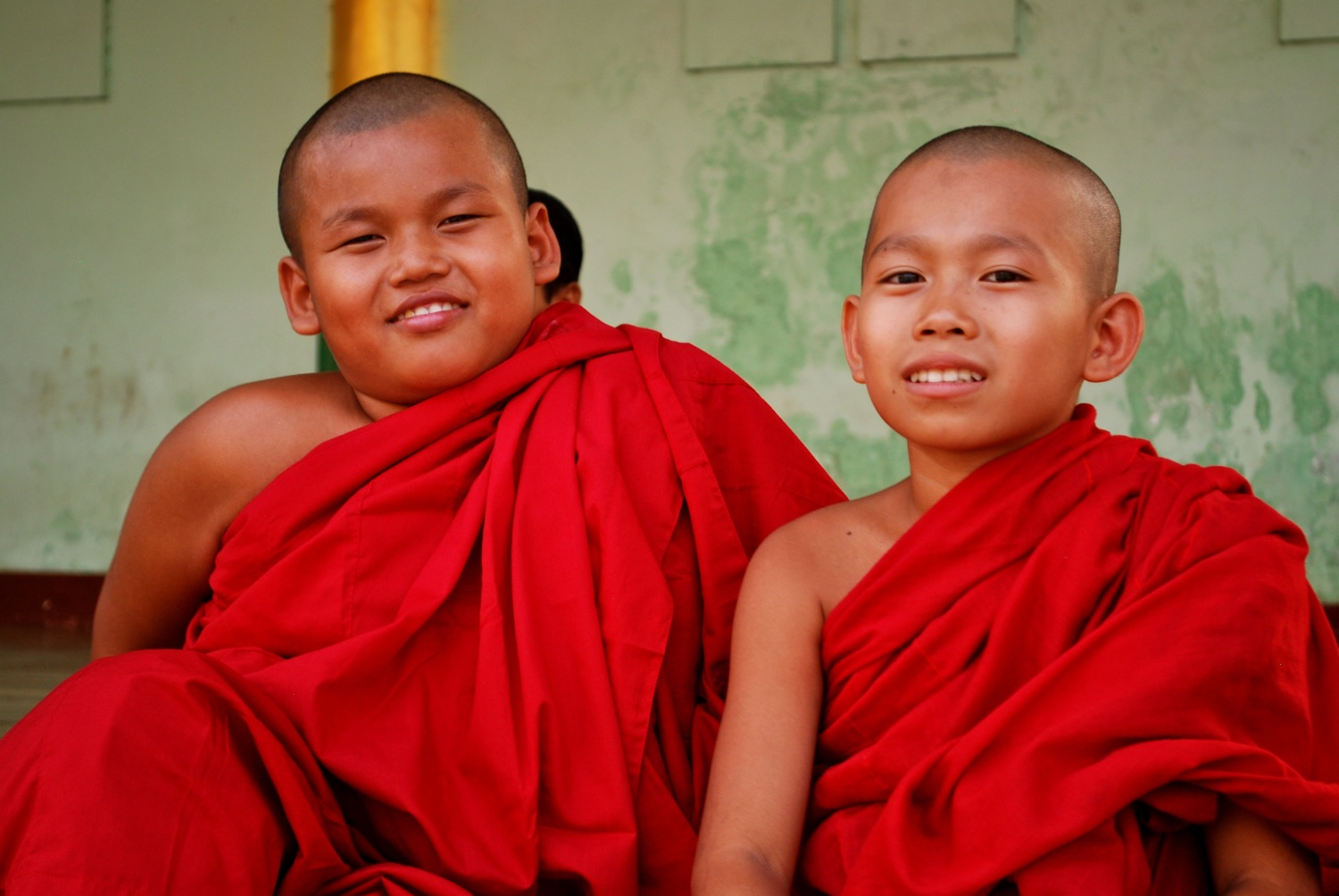 Junior monks in Yangon